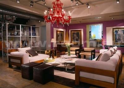 Люстра Barovier&Toso, диван и столик журнальный Minotti